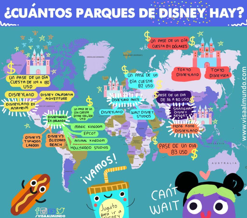 Parques De Disney Cuántos Hay Costos Guía 2021 Visa Al Mundo